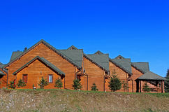 Wooden cottages Stock Photo