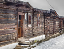 Wooden cottages in Zuberec, Slovakia Stock Images