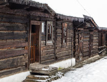 Wooden cottages in Zuberec, Slovakia Stock Photography