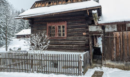 Wooden cottages in Zuberec, Slovakia Stock Photo