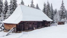 Wooden cottages in Zuberec, Slovakia. Open-air museum at Zuberec, Slovakia stock image