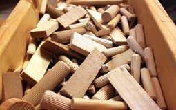 Wooden cotters and plugs Stock Photography