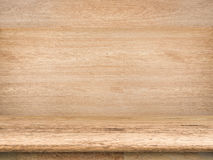 Wooden countertop. On wooden background Royalty Free Stock Photo