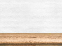 Wooden countertop. On white background royalty free stock images