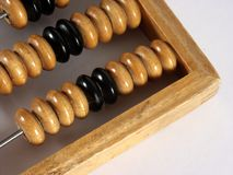 Wooden counting frame Royalty Free Stock Image