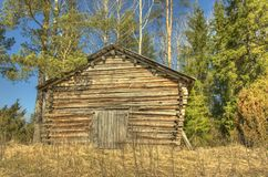 Wooden country barn Stock Photography