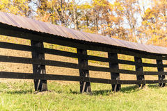 Wooden country fence line Stock Image