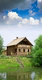 Wooden country house Royalty Free Stock Image