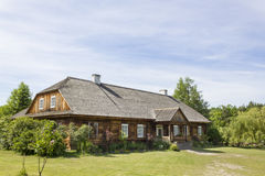 Wooden country house in the museum in Tokarnia, Poland Stock Photos