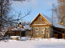 Wooden country house in Russia. Stock Images
