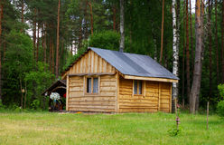 Wooden country house Stock Photo
