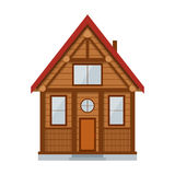 Wooden Country House. Vector Royalty Free Stock Images