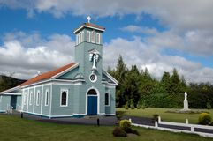 Wooden countryside church Stock Photo