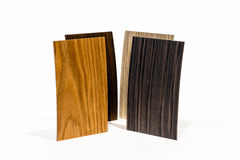 Wooden coverage types set Stock Photo