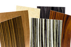 Wooden coverage types set Stock Photography