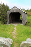 Wooden covered bridge Stock Photos