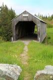 Wooden covered bridge Stock Photos
