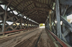 Wooden covered bridge Royalty Free Stock Images