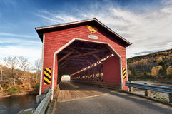 Wooden covered bridge Stock Images