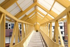 Wooden covered bridge  Royalty Free Stock Photos