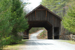 Wooden Covered Bridge in DuPont Forest Royalty Free Stock Photo