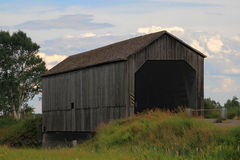 Wooden Covered Bridge in New Brunswick Royalty Free Stock Photo