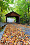 Michigan Wooden Covered Bridge on Pierce Stocking  Stock Images