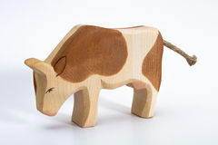 Wooden cow toy Royalty Free Stock Image