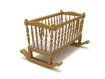 Wooden cradle Stock Photo