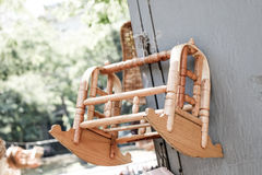 Wooden cradle of eastern type Stock Photo