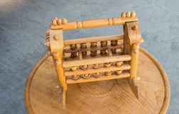 Wooden cradle of eastern type. In view stock photos
