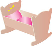Wooden cradle illustration Stock Photo
