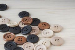 Wooden Craft Buttons Royalty Free Stock Image
