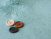 Wooden Craft Buttons Stock Image