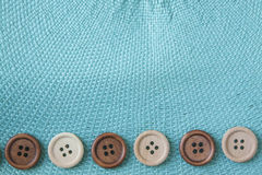 Wooden Craft Buttons Royalty Free Stock Photo