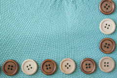 Wooden Craft Buttons Stock Photos