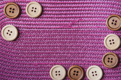 Wooden Craft Buttons Stock Images