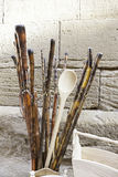 Wooden craft sticks Royalty Free Stock Photos