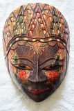 Wooden craft of traditional female face royalty free stock images