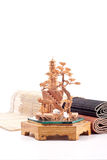 Wooden Crafted Art Model Stock Photo