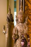 Wooden crafted Indonesian god Royalty Free Stock Photography