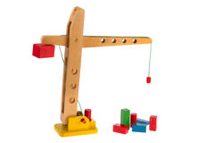 Wooden crane Stock Image