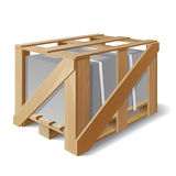 Wooden crate with cargo on a pallet Stock Image