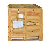 Wooden crate with equipment Stock Images