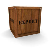 Wooden Crate - Export Royalty Free Stock Image