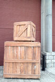 Wooden crate Royalty Free Stock Photos