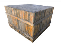 Wooden crate Royalty Free Stock Image
