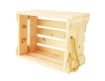 Wooden Crate isolated on white background Royalty Free Stock Photography