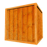 Wooden Crate Isolated on White Background Royalty Free Stock Photos