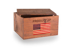 Wooden crate isolated on a white background Stock Images